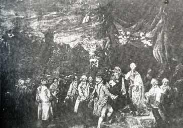 Carlos III promulgando el edicto de expulsión de los jesuitas
