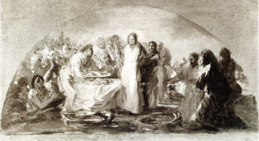 Multiplication of the Loaves and Fishes (La multiplicación de los panes y los peces) (sketch)