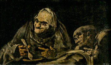 Dos viejos comiendo