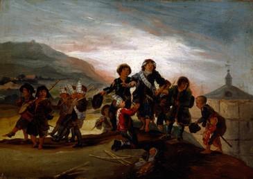 Niños jugando a los soldados
