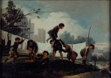 Niños jugando a pídola