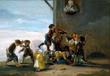 Children Fighting Over Chestnuts (Niños disputándose unas castañas)