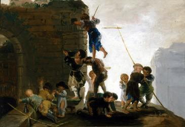 Niños buscando nidos