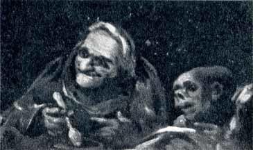 Dos viejos comiendo (boceto)