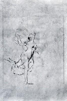 Apunte de muchacha bailando (apunte)
