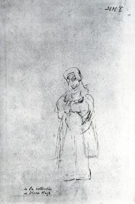 Apunte de monja (boceto)