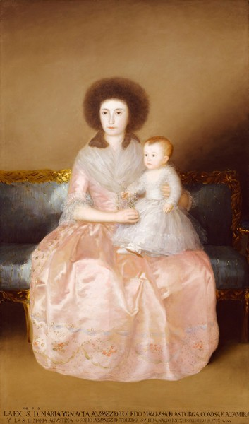 María Ignacia Álvarez de Toledo, condesa de Altamira, y su hija María Agustina