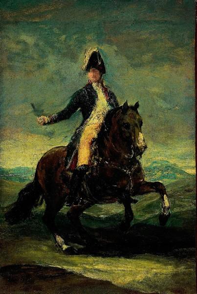 Fernando VII a caballo (boceto)