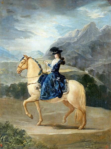 María Teresa de Vallabriga a caballo