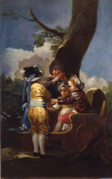 Children with a Cart (Los niños del carretón)