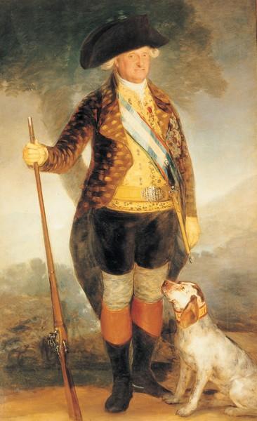 Carlos IV en traje de caza