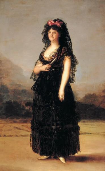 María Luisa de Parma con mantilla