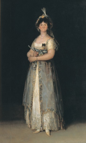 María Luisa in Court Dress (María Luisa en traje de corte)