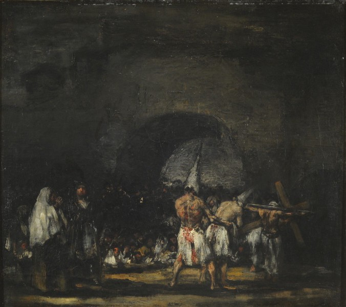 Flagellants next to an Arch (Disciplinantes junto a un arco)