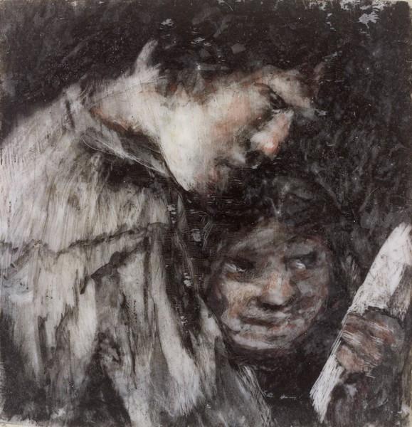 Dos niños mirando un libro