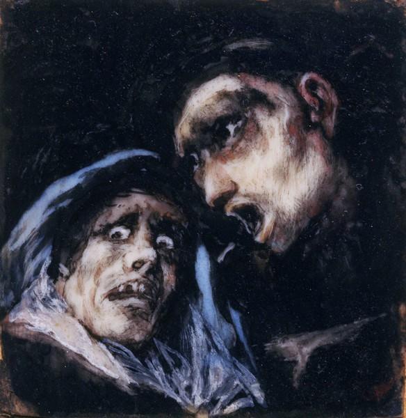Monk Talking to an Old Woman (Fraile hablando con una vieja)