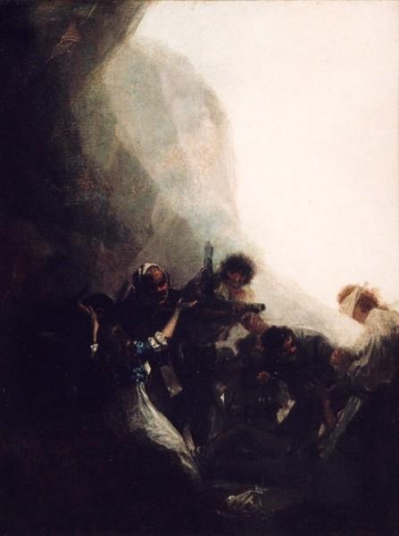 Bandidos fusilando a sus prisioneros