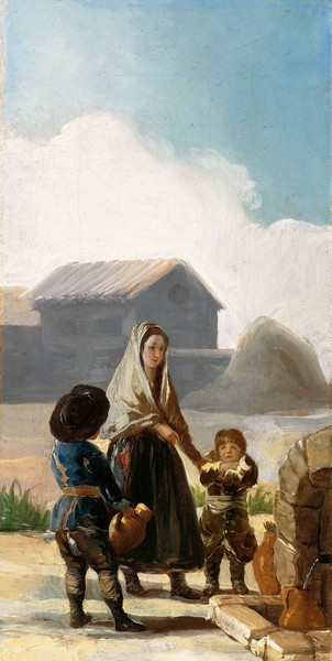 Los pobres de la fuente (boceto)