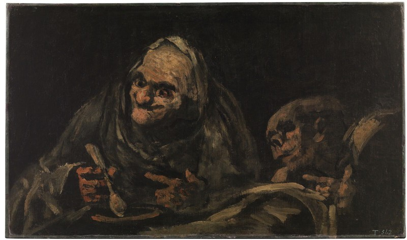 Two Old Men Eating (Dos viejos comiendo)