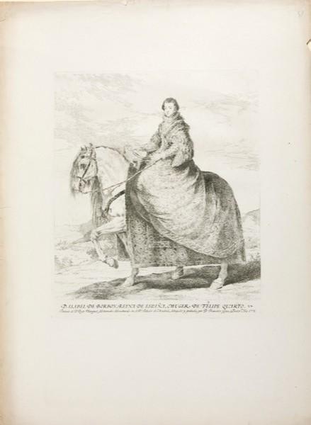 Doña Isabel de Borbón, Reina de España, mujer de Felipe IV