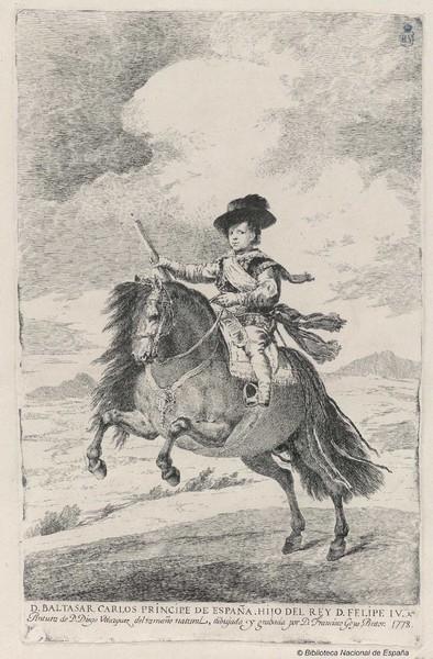 Don Balthasar Charles, prince of Spain, son of king Philip IV (Don Baltasar Carlos Principe de España. Hijo del Rey D. Felipe IV