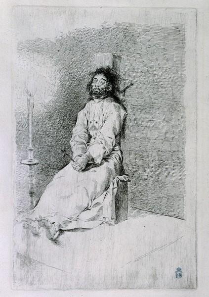 The Garrotted Man (El agarrotado)