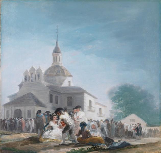 The Chapel of San Isidro on his Feast Day (La ermita de San Isidro el día de la fiesta) (sketch)