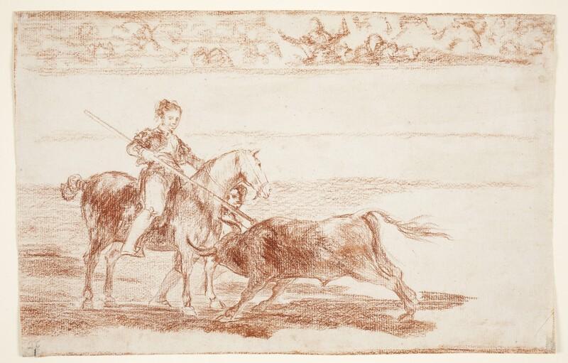 Valor varonil de la célebre Pajuelera en la de Zaragoza (dibujo preparatorio)
