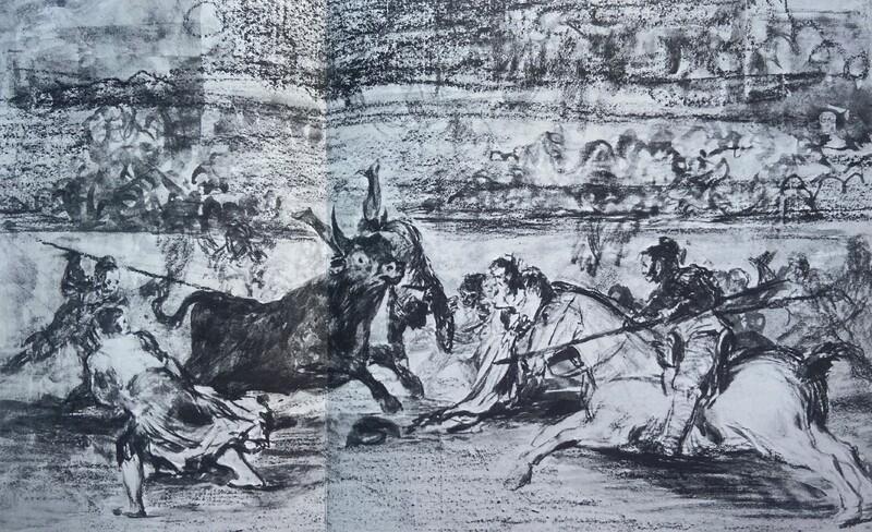 La muerte de Pepe Illo (Tauromaquia E) (dibujo preparatorio)