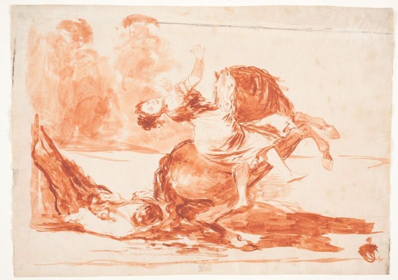 El caballo raptor (dibujo preparatorio)