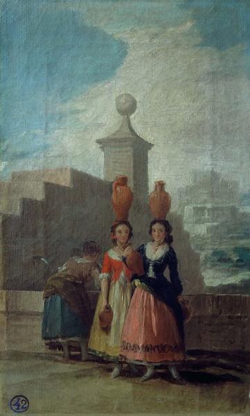 Young Women with Pitchers (Las mozas del cántaro) (sketch)