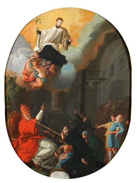 The Consecration of Saint Aloysius Gonzaga as the Patron Saint of Youth (La consagración de San Luis Gonzaga como Patrono de la Juventud)