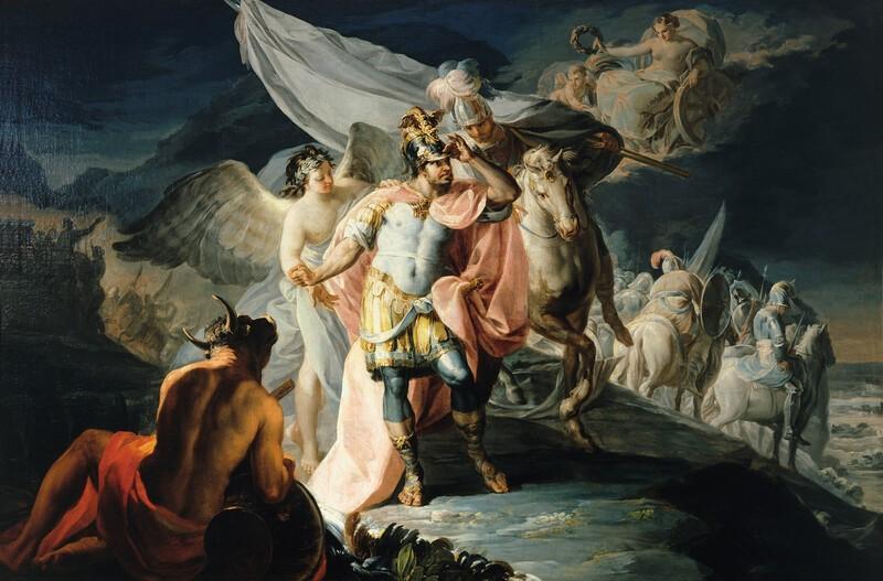 Aníbal vencedor, que por primera vez miró Italia desde los Alpes