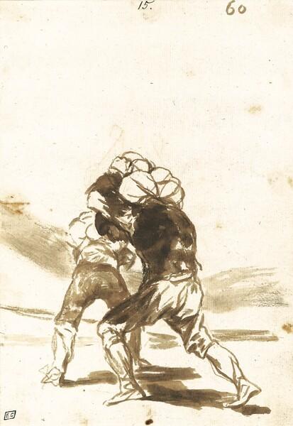 Dos mozos de cuerda de espaldas (F.60)