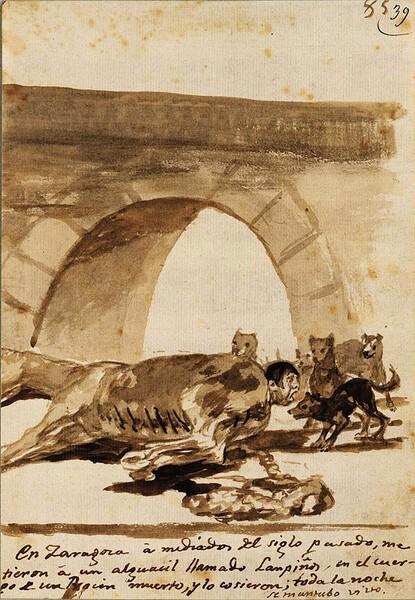 El alguacil Lampiños cosido dentro de un caballo vivo (F.85)