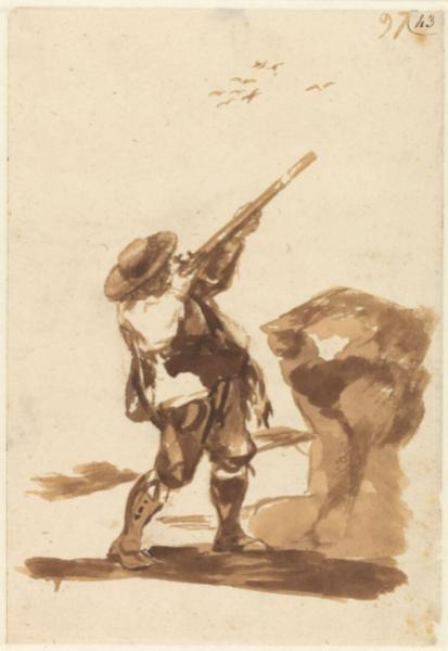 Cazador disparando a los pájaros (F.97)