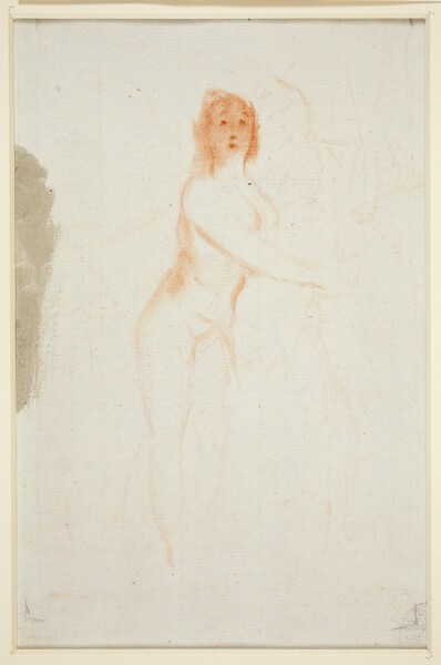 La Verdad. Esbozo de mujer desnuda