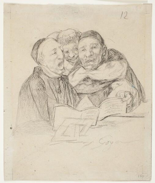 Un clérigo y dos dominicos cantando (H.12)
