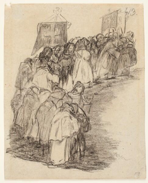 Frailes en procesión (H.13)