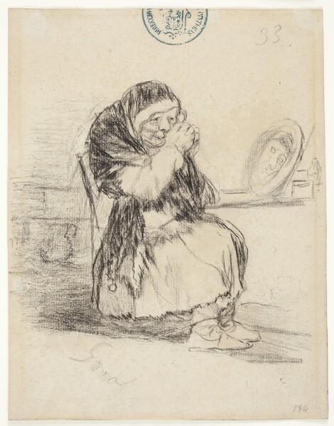 La vieja del espejo (H.33)