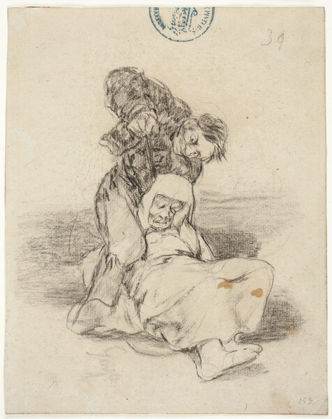 Hombre asesinando a un monje (H.34)