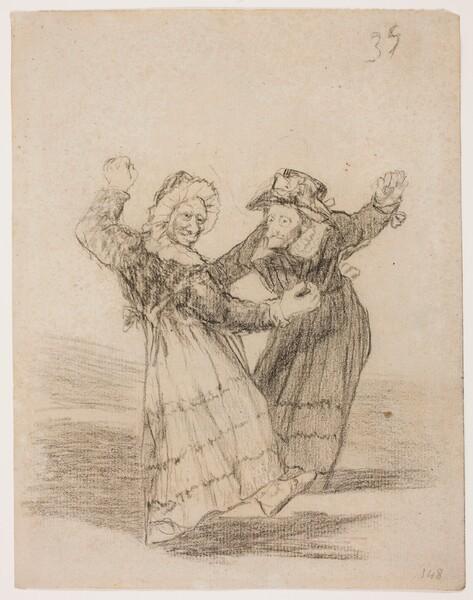 Dos viejas comadres bailando (H.35)