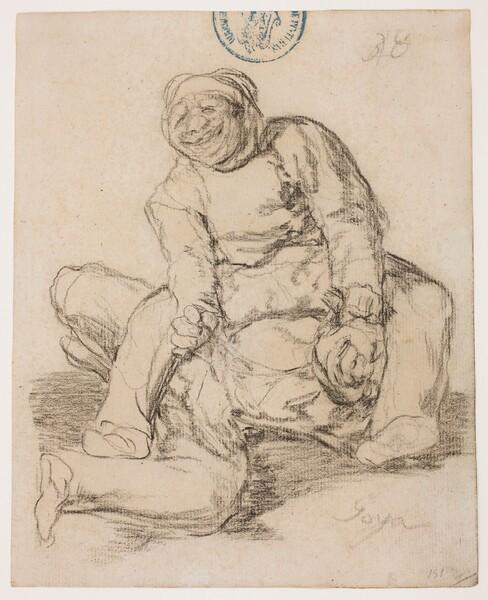 Riña a muerte entre dos hombres gruesos (H.38)