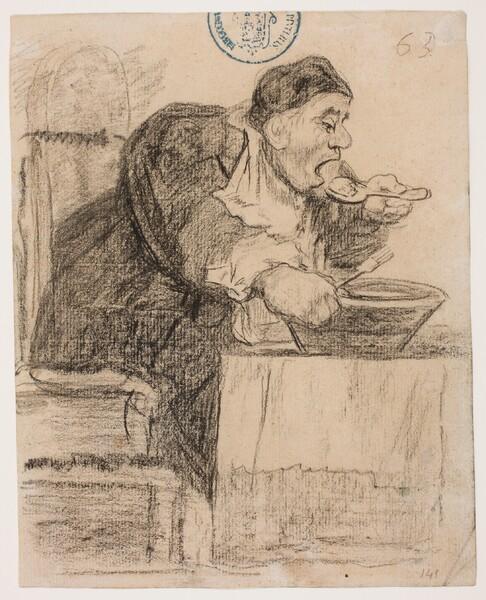 Religioso comiendo de un barreño (H.63)