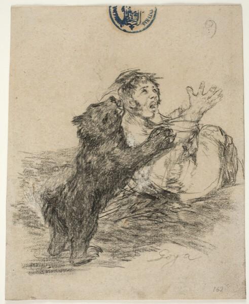Hombre atacado por un oso (H.9)