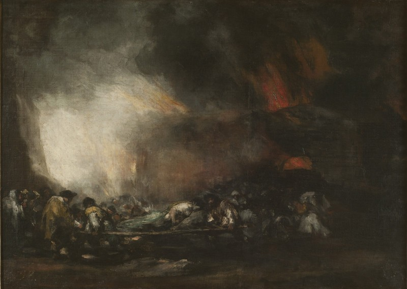 Fire in a Hospital (Incendio de un hospital)