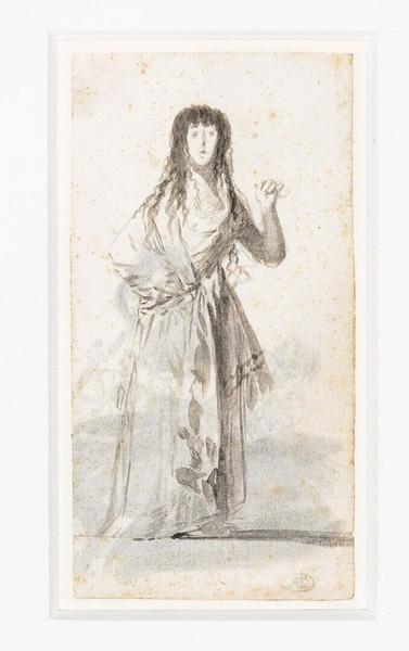 La duquesa de Alba levantando un brazo