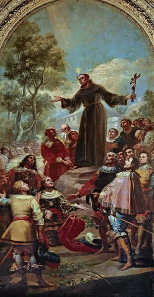 Predicación de San Bernardino de Siena